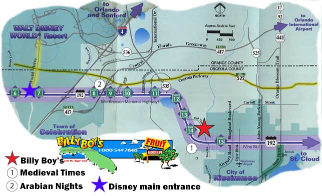 Discount Disney World tickets pickup center for Billy Boy's